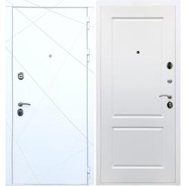 Входная металлическая дверь Сенатор Олимпия - 13 ФЛ-117 Белый силк сноу