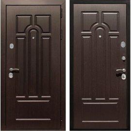 Входная металлическая дверь Сенатор Премиум 5к цвет Венге / Венге