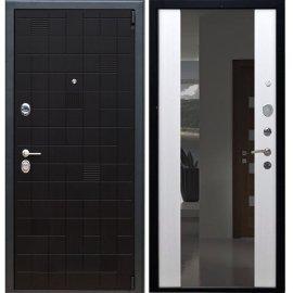 Сенатор Тетрис 3к с противоударным Зеркалом СБ - 16 цвет Белый ясень входная стальная металлическая дверь