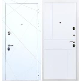Входная металлическая дверь Сенатор Олимпия - 13 ФЛ-290 Белый силк сноу