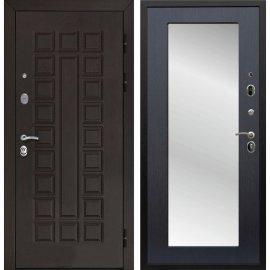 Входная стальная дверь Йошкар-Ола Senator 3к Пастораль цвет Венге с ударопрочным Зеркалом