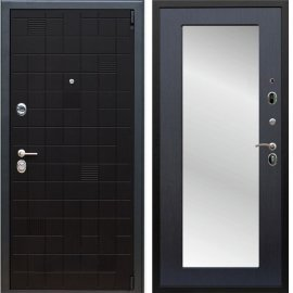 Сенатор Тетрис 3к Пастораль цвет Венге с ударопрочным Зеркалом входная стальная металлическая дверь