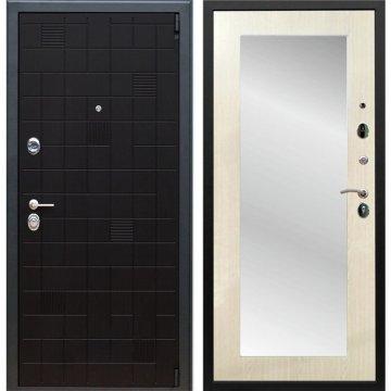 Сенатор Тетрис 3к Пастораль цвет Лиственница беж с ударопрочным Зеркалом входная стальная дверь