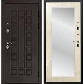 Входная стальная дверь Йошкар-Ола Senator 3к Пастораль цвет Лиственница беж с ударопрочным Зеркалом