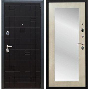 Сенатор Тетрис 3к Пастораль цвет Дуб белёный с ударопрочным Зеркалом входная стальная дверь