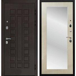 Входная стальная дверь Йошкар-Ола Senator 3к Пастораль цвет Дуб белёный с ударопрочным Зеркалом