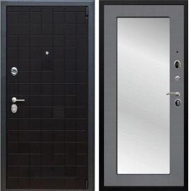 Сенатор Тетрис 3к Пастораль цвет Графит софт с ударопрочным Зеркалом входная стальная металлическая дверь