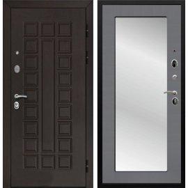 Входная дверь Йошкар-Ола Senator 3к Пастораль Графит софт с ударопрочным Зеркалом