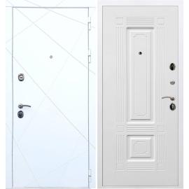 Входная металлическая дверь Сенатор Олимпия - 13 ФЛ-2 Белый силк сноу