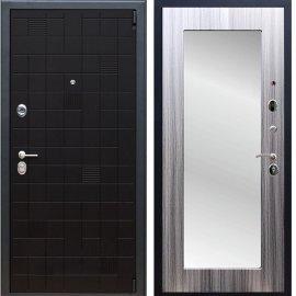 Сенатор Тетрис 3к Пастораль цвет Сандал серый с ударопрочным Зеркалом входная стальная дверь