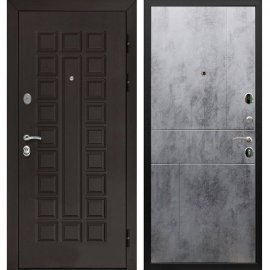Входная стальная металлическая дверь Сенатор ФЛ-290 цвет панели Бетон светлый