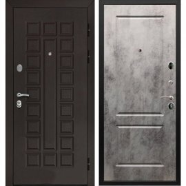 Входная стальная металлическая дверь Сенатор ФЛ-117 цвет панели Бетон светлый