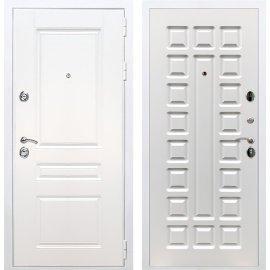 Входная металлическая дверь Сенатор Император 3к ФЛ-183 Белый ясень