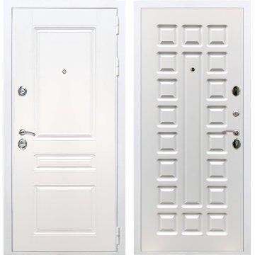 Входная белая дверь Император 3к ФЛ-183 Белый ясень