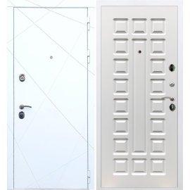 Входная металлическая дверь Сенатор Олимпия - 13 ФЛ-183 Белый ясень