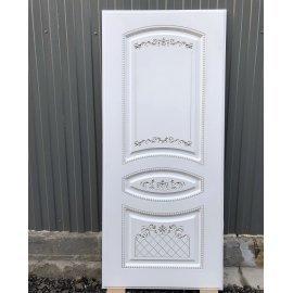 Входная металлическая дверь Сенатор Император 3к ФЛ-317 Белый патина Серебро