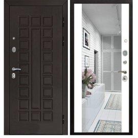Сенатор 3к с противоударным Зеркалом СБ - 16 цвет Белый силк сноу входная стальная металлическая дверь