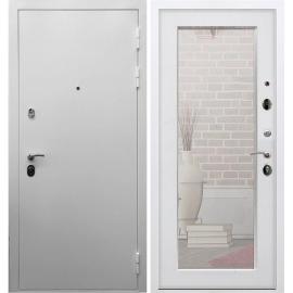 Входная металлическая дверь Сенатор Триумф 3к Пастораль Белый Ясень с ударопрочным Зеркалом