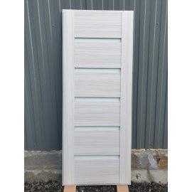 Входная стальная металлическая дверь Йошкар-Ола Senator СБ-14 с вставками белое стекло цвет Сандал белый