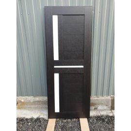 Входная металлическая дверь Йошкар-Ола Senator с вставками белое стекло СБ - 18 цвет Венге