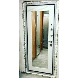 Сенатор Премиум 3к Пастораль цвет Белый Ясень с ударопрочным Зеркалом входная стальная металлическая дверь