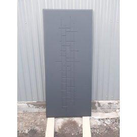 Сенатор Премиум 3к ФЛ-289 Тетрис цвет Ясень чёрный входная стальная металлическая дверь