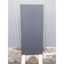 Входная металлическая дверь Senator Пастораль ФЛ-289 Тетрис цвет Ясень чёрный