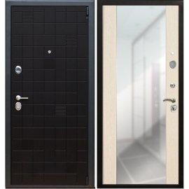 Сенатор Тетрис 3к с противоударным Зеркалом СБ - 16 цвет Лиственница бежевая входная стальная металлическая дверь
