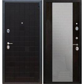 Сенатор Тетрис 3к с противоударным Зеркалом СБ - 16 цвет Венге / Венге входная стальная металлическая дверь