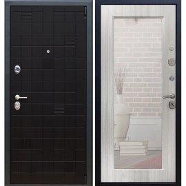 Сенатор Тетрис 3к Пастораль цвет Сандал белый с ударопрочным Зеркалом входная стальная металлическая дверь