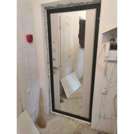 Сенатор Премиум 3к с противоударным Зеркалом СБ - 16 цвет Лиственница бежевая входная стальная металлическая дверь
