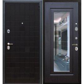 Сенатор Тетрис 3к с противоударным Зеркалом цвет Венге / Венге входная стальная металлическая дверь