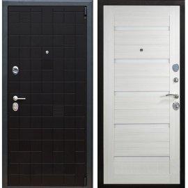 Сенатор Тетрис 3к СБ-14 с вставками белое стекло цвет Сандал белый входная стальная металлическая дверь
