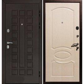 Входная стальная металлическая дверь Йошкар-Ола Senator ФЛ-128 цвет Беленый дуб