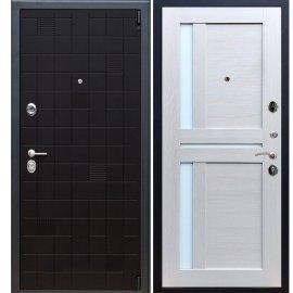 Сенатор Тетрис 3к с вставками белое стекло СБ - 18 цвет Лиственница бежевая входная стальная металлическая дверь