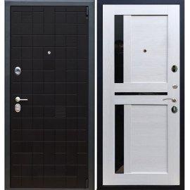 Сенатор Тетрис 3к с вставками чёрное стекло СБ - 18 цвет Лиственница бежевая входная стальная металлическая дверь