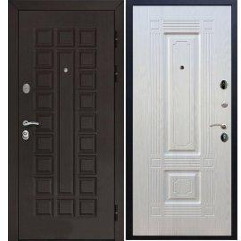 Входная металлическая стальная дверь Йошкар-Ола Senator цвет Венге / ФЛ-2 Лиственница беж