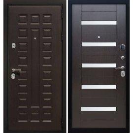 Сенатор Премиум 3к СБ-14 с вставками белое стекло цвет Венге / Венге входная стальная металлическая дверь