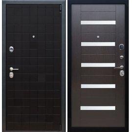 Сенатор Тетрис 3к СБ-14 с вставками белое стекло цвет Венге / Венге входная стальная металлическая дверь