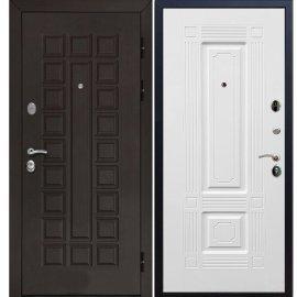 Входная металлическая стальная дверь Йошкар-Ола Senator цвет Венге / ФЛ-2 Белый силк сноу