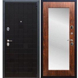 Сенатор Тетрис 3к Пастораль цвет Берёза морёная с ударопрочным Зеркалом входная стальная дверь