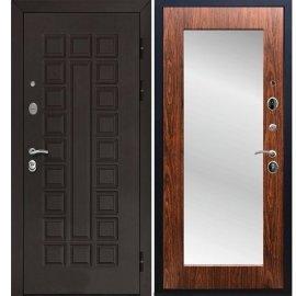 Входная металлическая дверь Senator Пастораль цвет Берёза морёная с ударопрочным Зеркалом